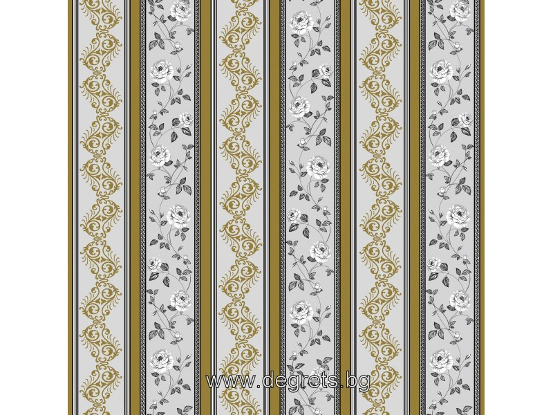 Тапет дуплекс Валс-Версаче сив-злато