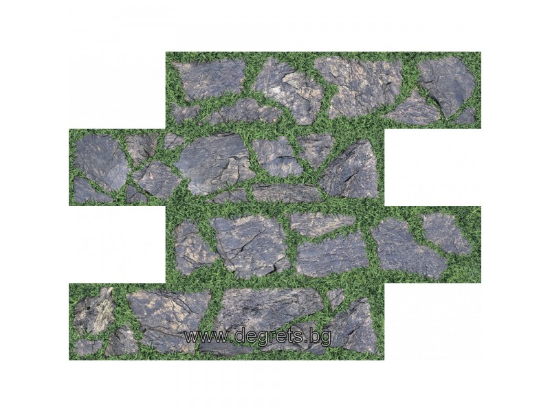 PVC панел за под Камък в тревата 3D ефект