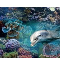 PVC панел за под Делфини 3D ефект
