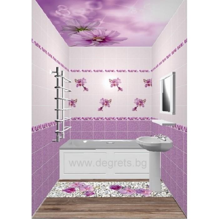 PVC панел за под Орхидея лилава 3D ефект