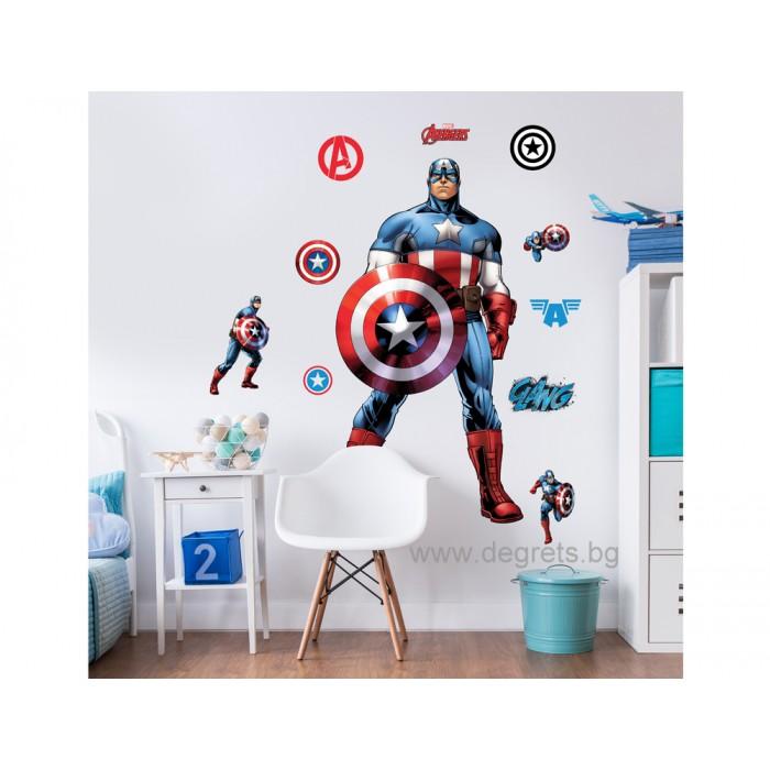 Стикер Капитан Америка 122 см.