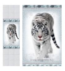 PVC ламперия Тигър шарка 3D ефект