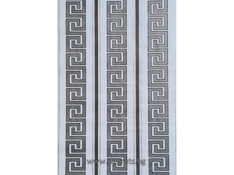 Тапет хaртиен Версаче бял-сребро