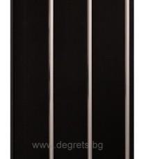 PVC ламперия Сребро черен лак