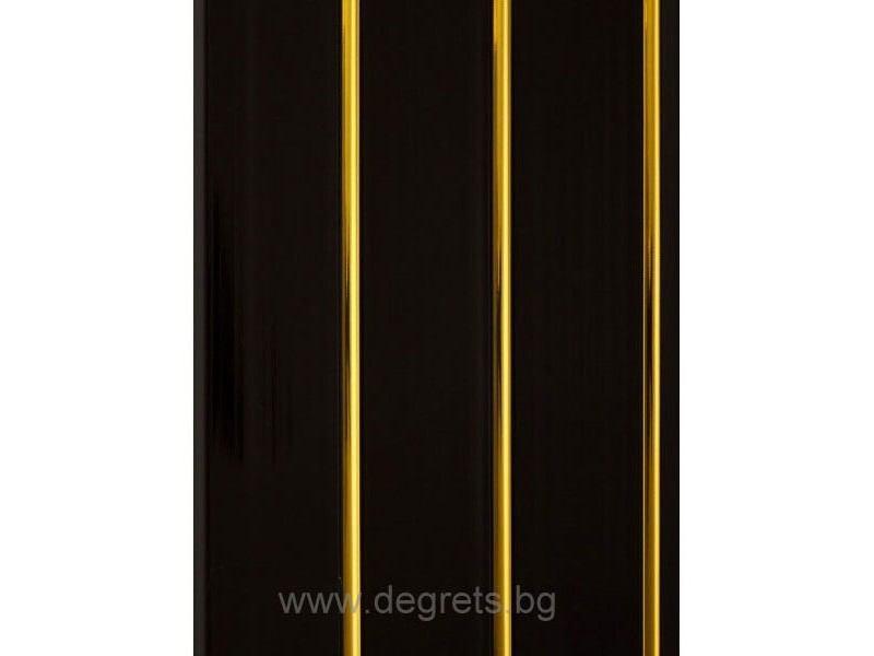 PVC ламперия Злато черен лак