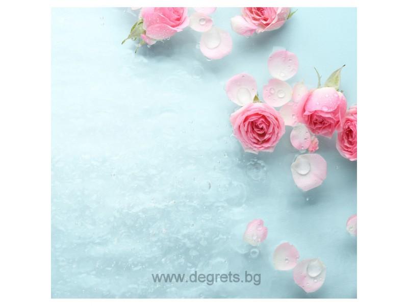 PVC ламперия Ледена Роза декор 3D ефект