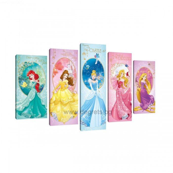 Картина Канава Дисни Принцеси 6 Сет 5 части