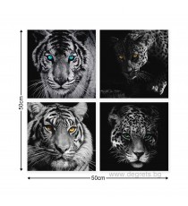 Картина Канава Хищници Сет 4 части