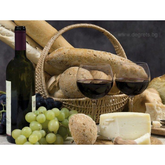 Фототапет Вино и хляб