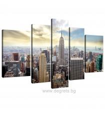 Картина Канава Ню Йорк 1 - Сет 5 части