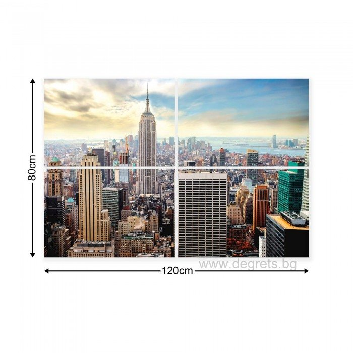 Картина Канава Ню Йорк 1 Сет 4 части