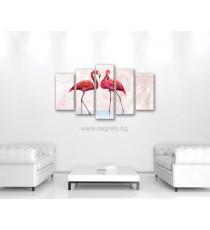 Картина Канава Фламинго 1 Сет 5 части