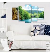 Картина Канава Водопад при езерото Сет от 5 части