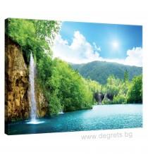 Картина Канава Водопад при езерото L