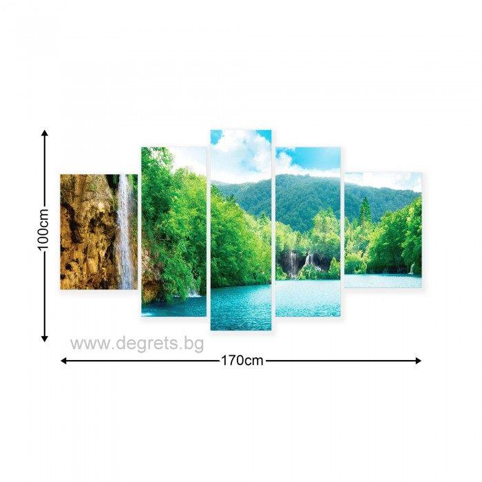 Картина Канава Водопад при езерото Сет 5 части