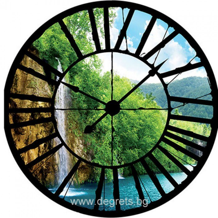 Фототапет флис Часовник Водопад