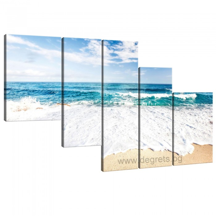 Картина Канава Лазурен бряг - Сет 5 части
