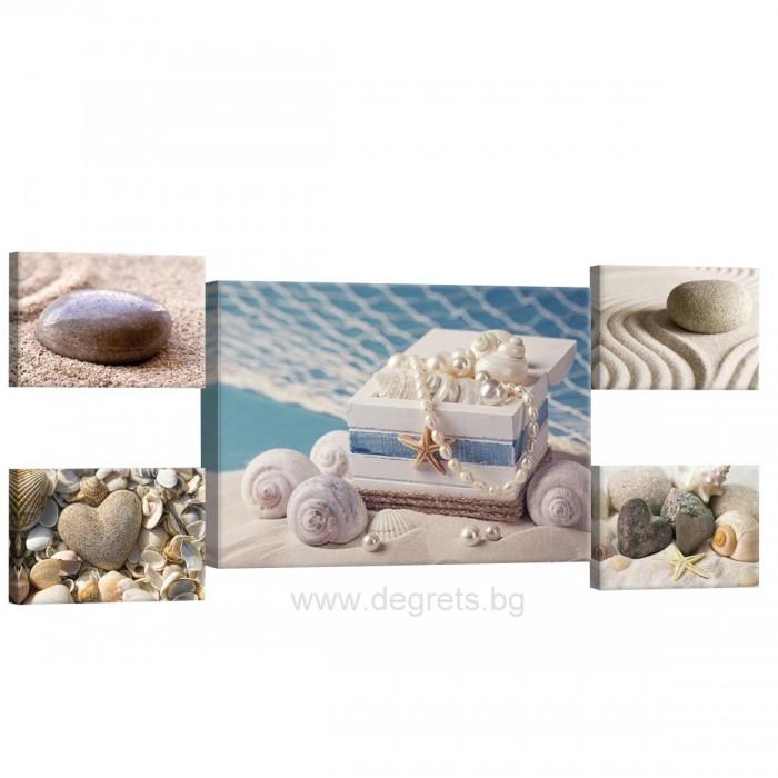 Картина Канава Морско богатство Сет 5 части
