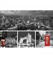Картина Канава Лондон черно - бял Сет 4 части