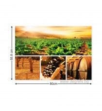 Картина Канава Вино Сет 4 части