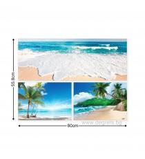 Картина Канава Екзотични плажове 4 Сет 3 части