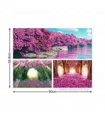 Картина Канава Вълшебство в лилаво Сет 3 части