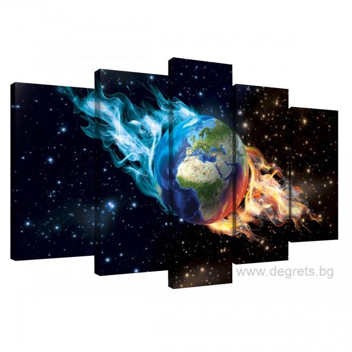 Картина Канава Земя Сет 5 части