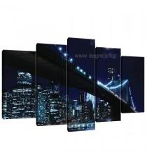 Картина Канава Бруклински мост 4 - Сет 5 части