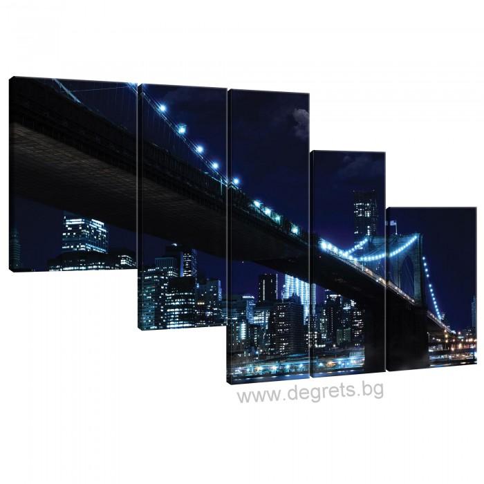 Картина Канава Бруклински мост 4 Сет 5 части