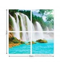 Картина Канава Райски водопад 1 3D Сет 4 части
