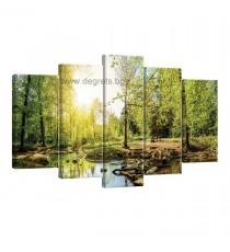 Картина Канава Зелена гора Сет 5 части
