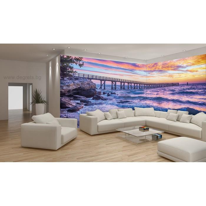 Фототапет флис Залез над морето 3XL