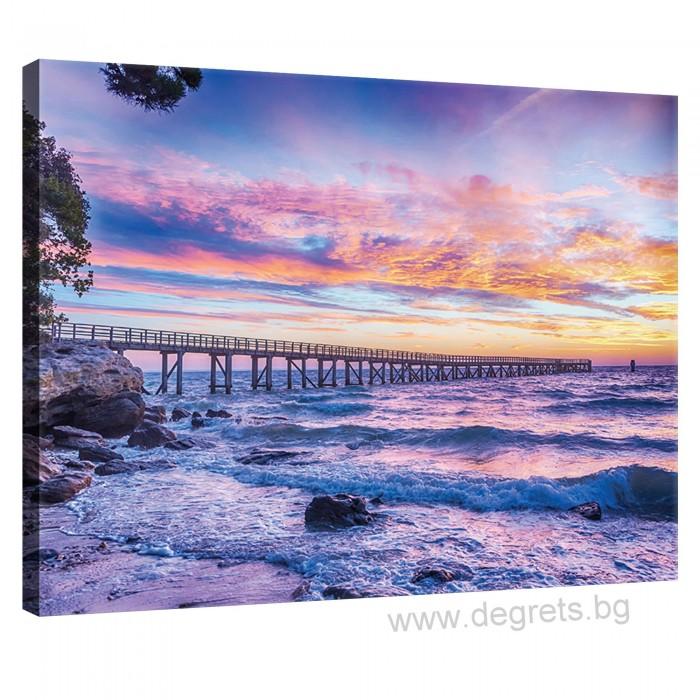 Картина Канава Залез над морето