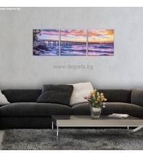 Картина Канава Залез над морето Сет 3 части