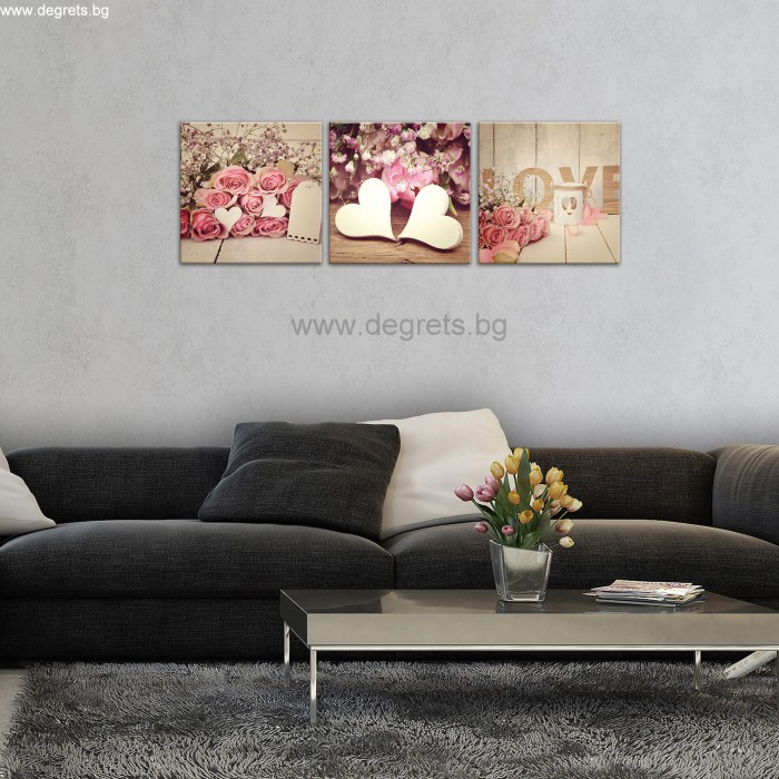 Картина Канава Любов арт Сет 3 части