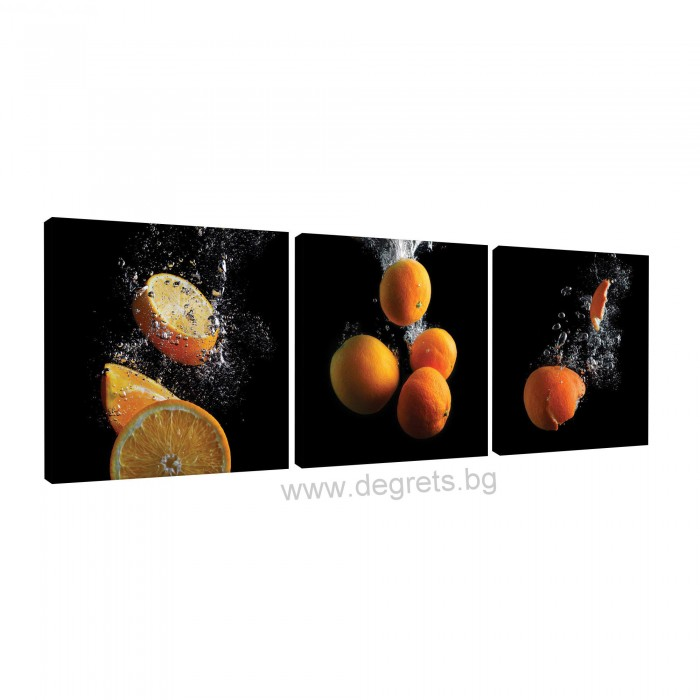 Картина Канава Портокали 3D Сет 3 части