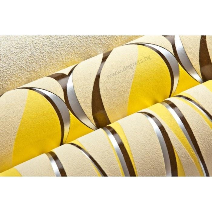 Тапет винил Вълни 2 3D жълт