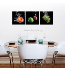 Картина Канава Плодове 3D Сет 3 части