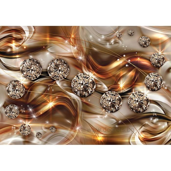 Фототапет Оранжев диамант 3D