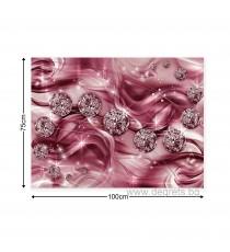 Картина Канава Лилав диамант 3D