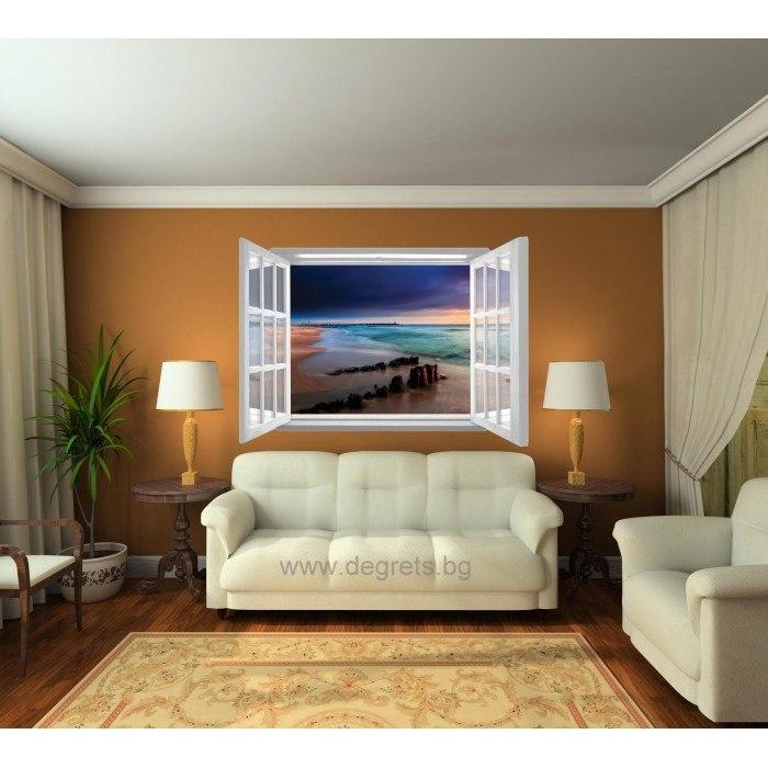 Фототапет флис Изгрев 3D прозорец