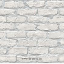 Тапет дуплекс Тухла 3D сив