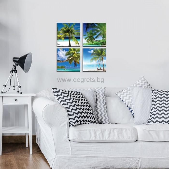 Картина Канава Екзотични плажове 1 Сет 4 части