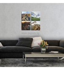 Картина Канава Планински пейзажи 1 Сет 4 части