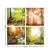 Картина Канава Горски пейзажи 1 Сет 4 части