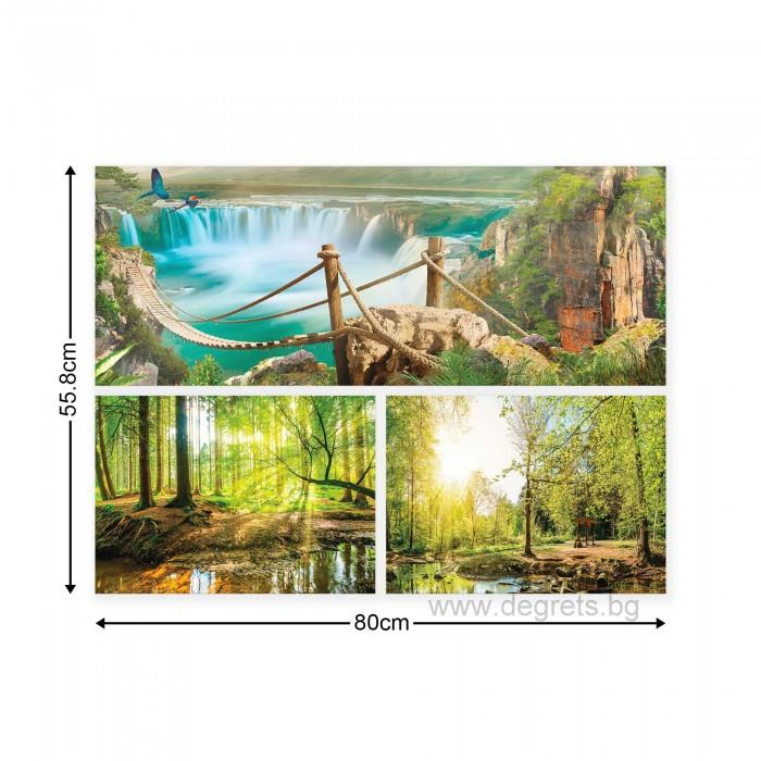 Картина Канава Природа 5 Сет 3 части