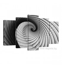 Картина Канава Илюзия 3D въртене Сет 5 части