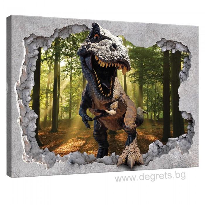 Картина Канава Динозавър 3D