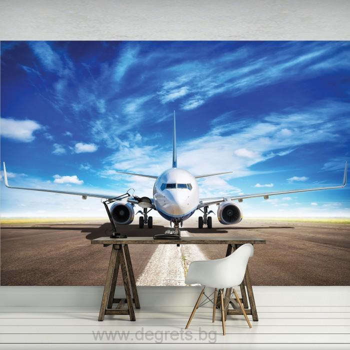 Фототапет Самолет на пистата