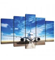 Картина Канава Самолет на пистата Сет 5 части